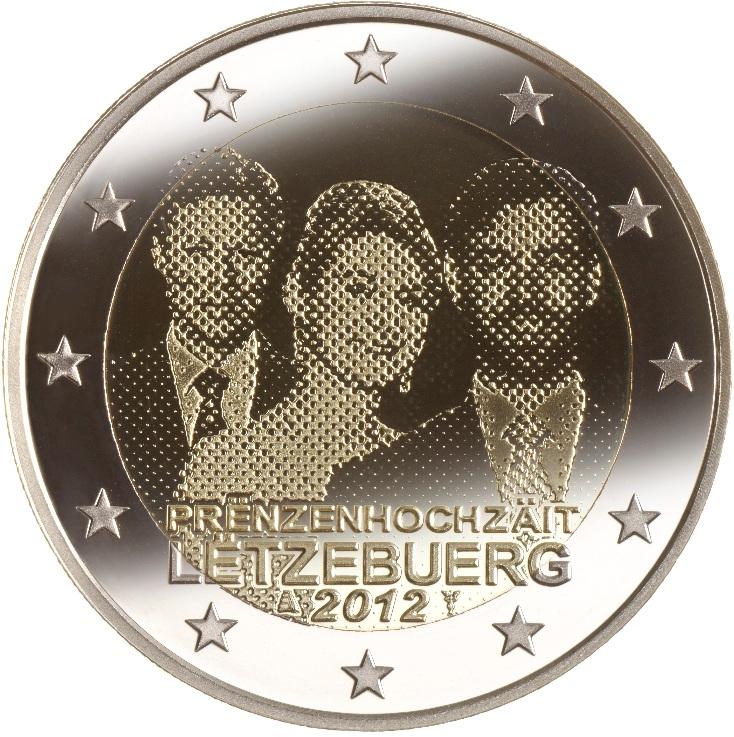 2 euro lusseemburgo 2012 matrimonio