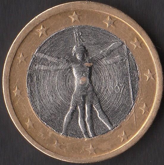 Moneta 1 euro falso tornio 1