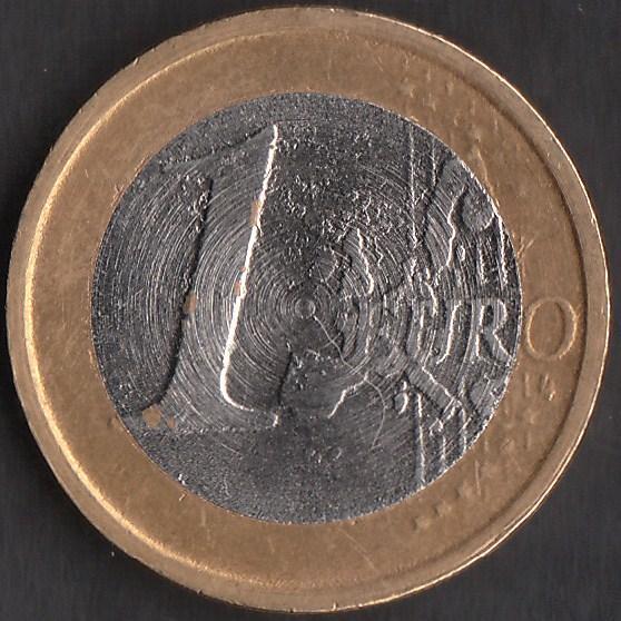 Moneta 1 euro falso tornio 2