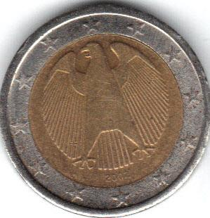 Moneta 2 euro germania falsa