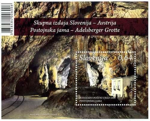Slovenia francobolli grotte 2013a
