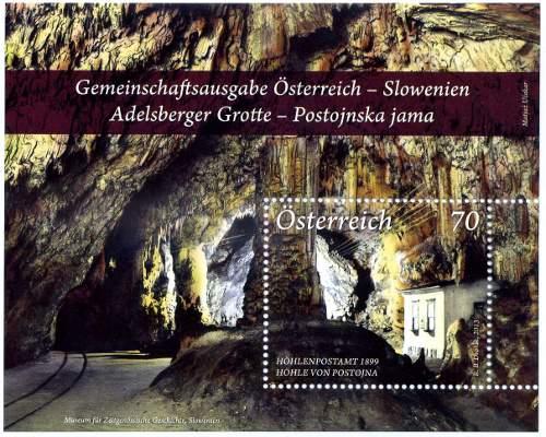 Slovenia francobolli grotte 2013b