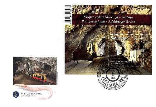 Slovenia francobolli grotte 2013c