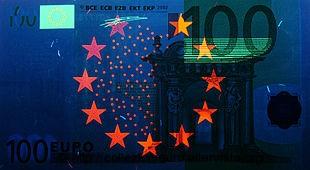 Banconote serie europa filigrana ultravioletto