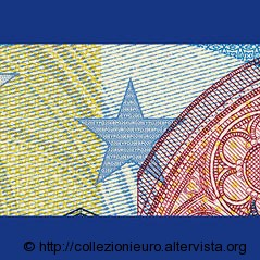 Banconote serie europa microscritture