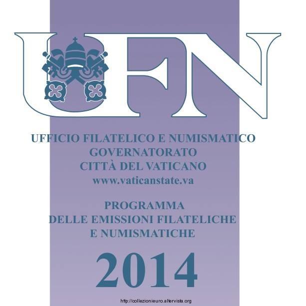 Vaticano Programma numismatico 2014 a
