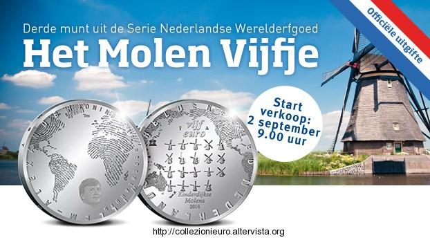 Olanda 5 e 10 euro mulini a vento 2014