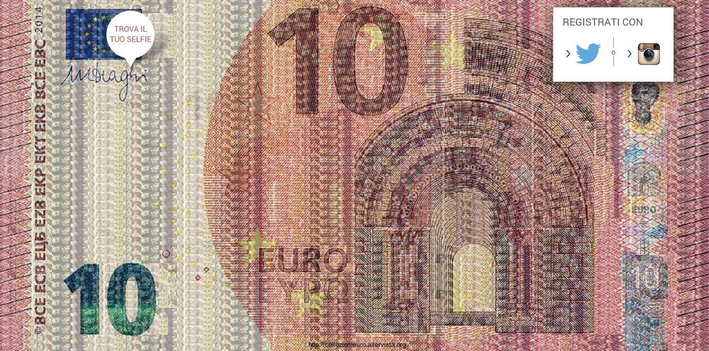 banconota 10 euro selfie 2014