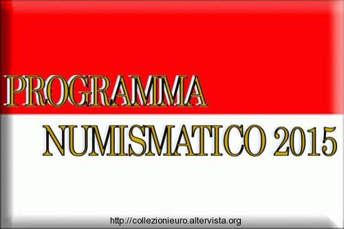 Monaco programma numismatico 2015