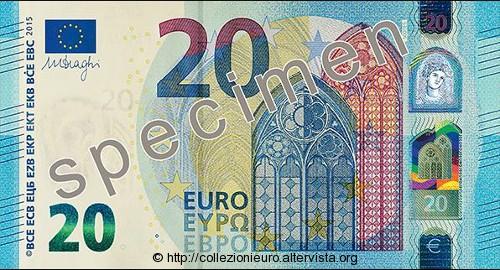 Banconota da 20 euro serie europa 2015x
