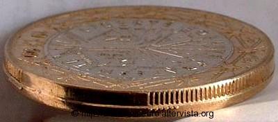 Francia 1 euro mezzo contorno partial collar