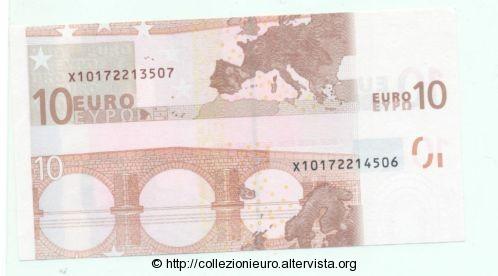 Germania 10 euro taglio metà A