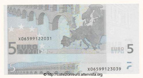 Germania 5 euro taglio metà A