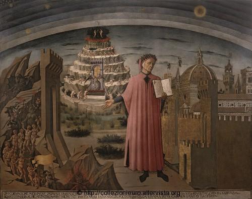 Dante e il purgatorio affresco del Michelino