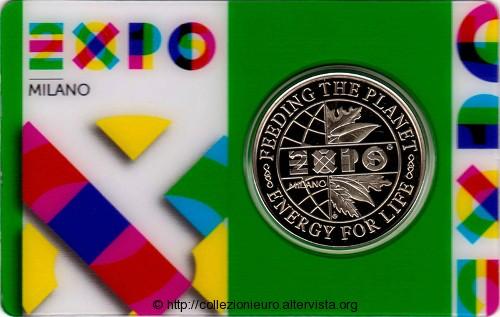 Italia coincard gettone expo milano 2015a