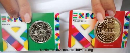 Italia coincard gettone expo milano 2015c