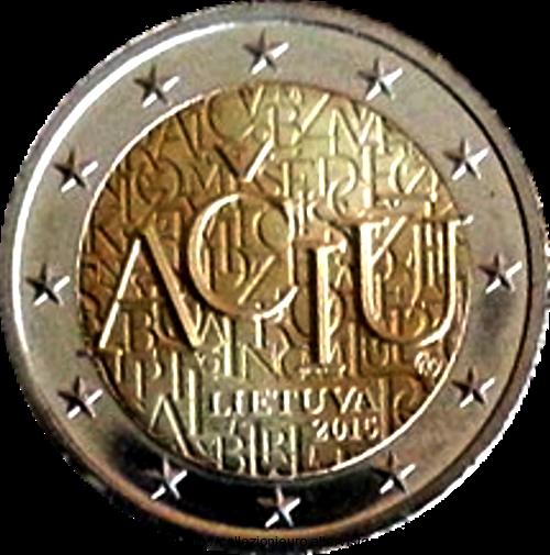 Lituania-rotolino-2-euro-lingua-lituana-2015 unc