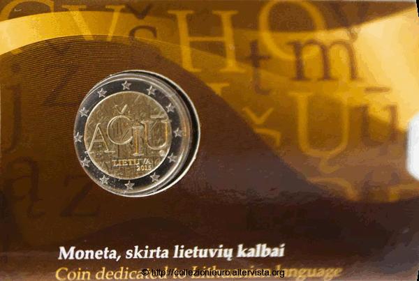 Lituania-coincard-2-euro-lingua-lituana-2015-a