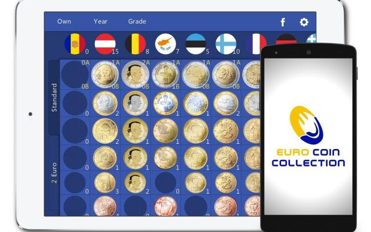 L'app Collezione Euro Monete per Android 2016.