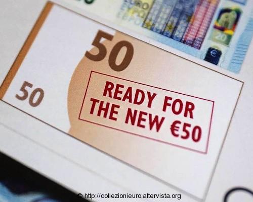 Preparativi nuova banconota da 50 euro serie europa 2016