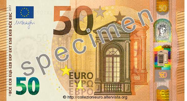 Europa: presentata oggi la nuova banconota da 50 euro serie Europa.