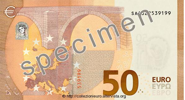 50 euro Banconota serie europa B