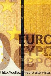 50 euro serie europa Sicurezza Guarda filo sicurezza