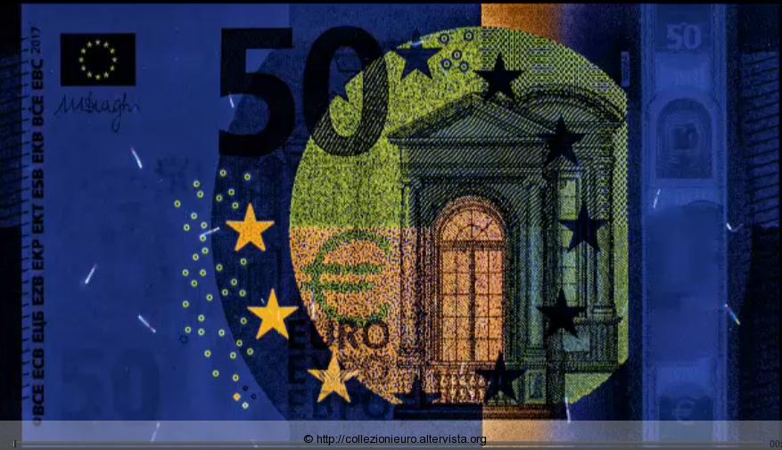 50 euro serie europa Sicurezza esposizione UVC