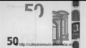 50 euro serie europa Sicurezza raggi infrarossi