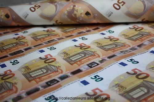 50 euro serie europa foglio banconote
