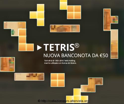 Gioco tetris nuova banconota serie europa