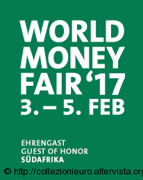 Germania: World Money Fair (WMF) 46° Fiera Mondiale delle Monete a partire dal 3 al 5 Febbraio 2017.