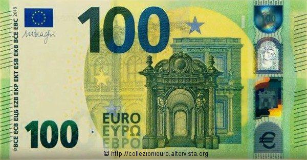 """Europa: nuova banconota da 100 euro serie """"Europa"""" 2019."""