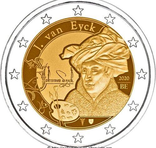 Belgio 2 euro commemorativo AJan van Eyck.