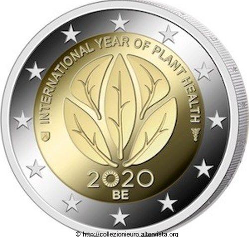 Belgio 2 euro commemorativo Anno internazionale della salute delle piante 2020 (IYPH 2020).