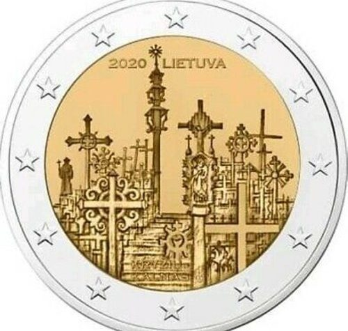Lituania 2 euro commemorativo La Collina delle Croci 2020.